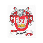 Fenwick Family Crest Stretched Canvas Print