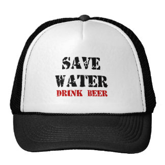 Feral Gear Designs - Save Water Drink Beer Trucker Hats