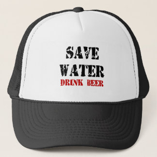 Feral Gear Designs - Save Water Drink Beer Trucker Hat