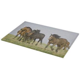 Feral Horse Equus caballus) wild horses 3 Cutting Board