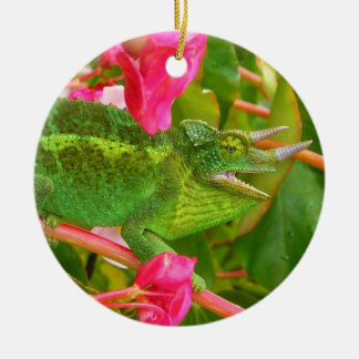 Feral Jackson's Chameleon on Maui Island Hawaii Christmas Ornament