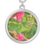 Feral Jackson's Chameleon on Maui Island Hawaii Personalized Necklace