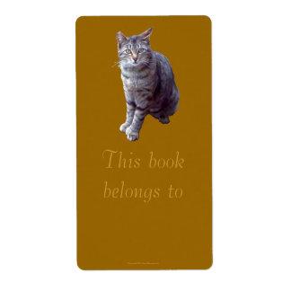 "Feral Kitten ""Tigress"" Bookplate Shipping Label"