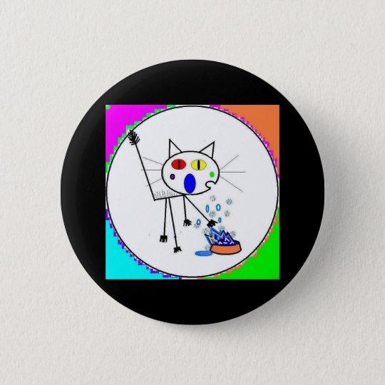 FeralArtist 6 Cm Round Badge