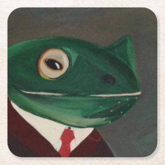 Ferdinand Frog Square Coasters