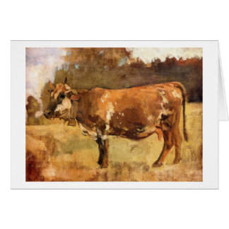 Ferdinand Hodler - Cow in a Pasture Card