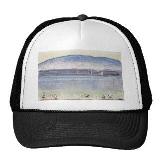 Ferdinand Hodler- Lake Geneva with six swans Mesh Hats