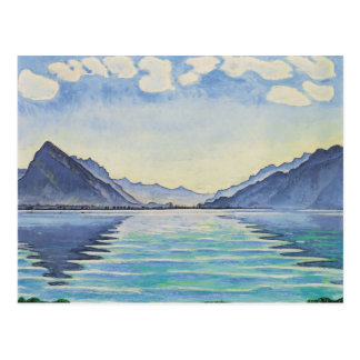 Ferdinand Hodler- Lake Thun, Symmetric reflection Postcard