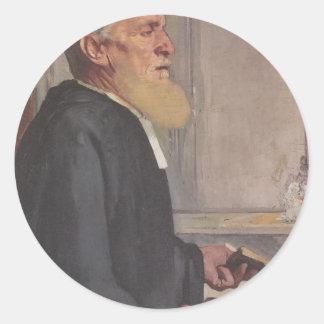 Ferdinand Hodler- The pastor Stickers