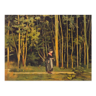 Ferdinand Hodler- Walking at the forest edge Postcard