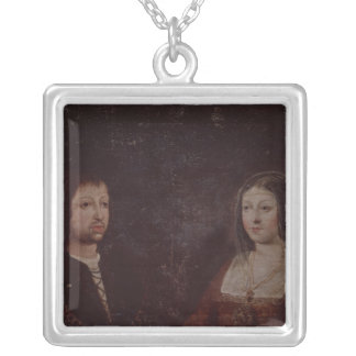Ferdinand II of Aragon and Isabella I of Castile Silver Plated Necklace