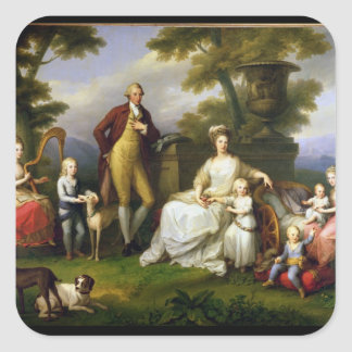 Ferdinand IV  King of Naples, and his Family Square Sticker