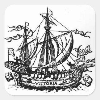 Ferdinand Magellan's boat 'Victoria' Square Sticker