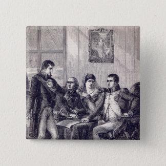 Ferdinand of Spain resigning his crown 15 Cm Square Badge
