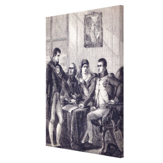 Ferdinand of Spain resigning his crown Gallery Wrap Canvas