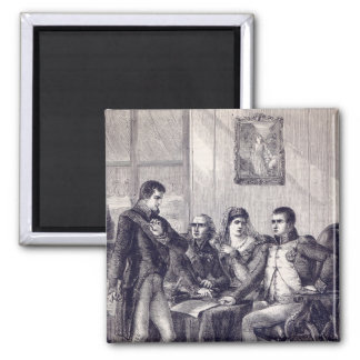 Ferdinand of Spain resigning his crown Square Magnet