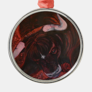 Ferdinand the bull christmas ornament