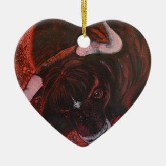 Ferdinand the bull christmas ornament