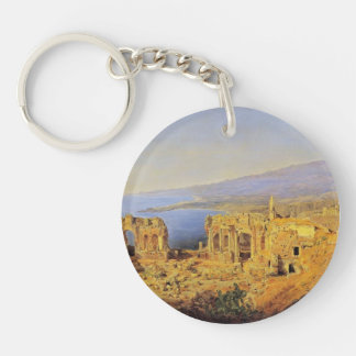 Ferdinand Waldmüller:The ruin of the Greek theater Key Chains