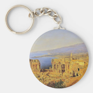 Ferdinand Waldmüller:The ruin of the Greek theater Key Chain