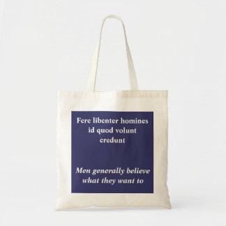 Fere libenter homines canvas bags