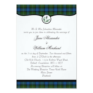 Ferguson Ancient Tartan & Thistle Wedding Invites