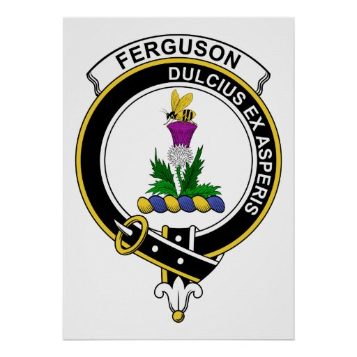 Ferguson Clan Badge Poster