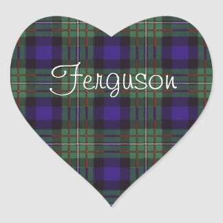 Ferguson clan Plaid Scottish tartan Heart Sticker