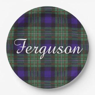 Ferguson clan Plaid Scottish tartan Paper Plate