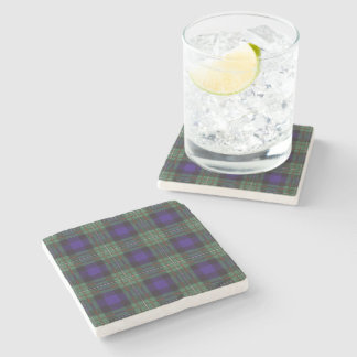Ferguson clan Plaid Scottish tartan Stone Coaster