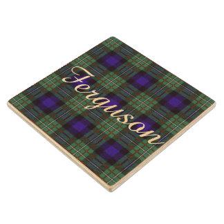 Ferguson clan Plaid Scottish tartan Wood Coaster