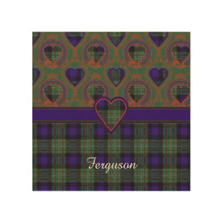 Ferguson clan Plaid Scottish tartan Wood Print