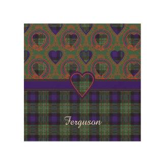 Ferguson clan Plaid Scottish tartan Wood Print