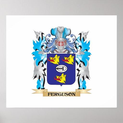 Ferguson Coat of Arms - Family Crest Poster