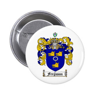 FERGUSON FAMILY CREST -  FERGUSON COAT OF ARMS 6 CM ROUND BADGE