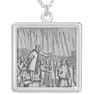 Ferguson preaching to rebels the day before silver plated necklace