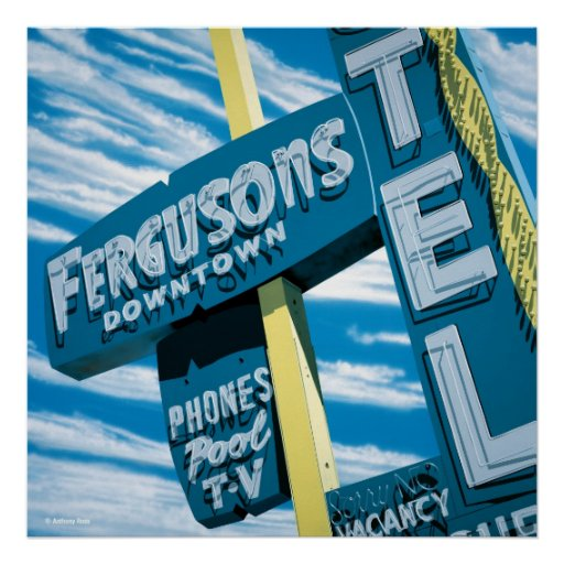 Fergusons Motel Poster Print