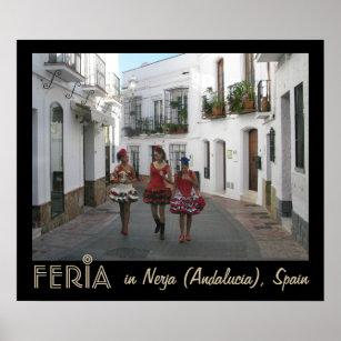 Feria in Nerja (Andalucia), Spain Poster