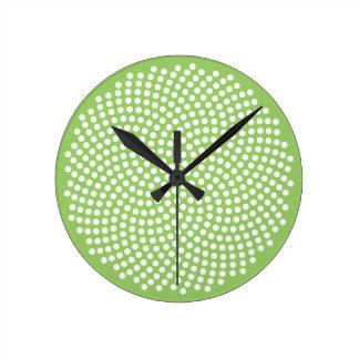 Fermat's Spiral Round Clock