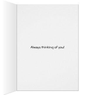 Fern always thinking of you fretting card