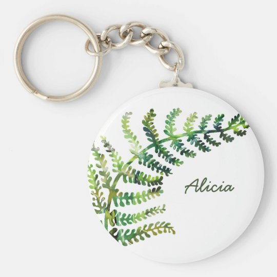 Fern Custom Name Keychain