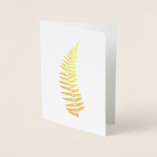 Fern Foil Greeting Card