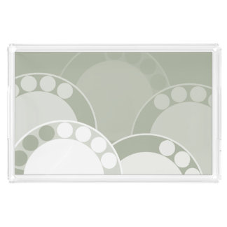 Fern Frond Design - Light Green - Tray