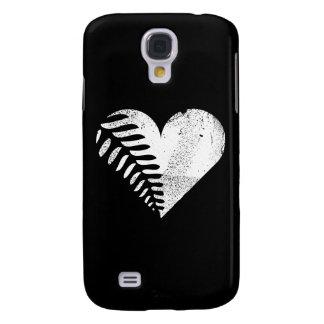 Fern Heart Dark Galaxy S4 Case