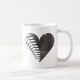 Fern Heart Classic White Coffee Mug