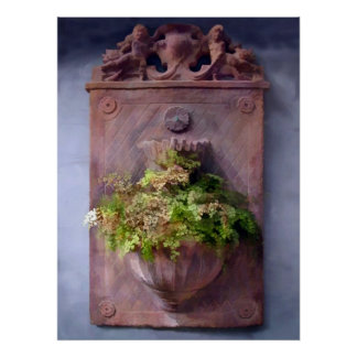 Fern in Antique Wall Planter Poster