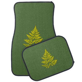 Fern leaf floor mat