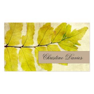 Fern leaf grunge vintage business card