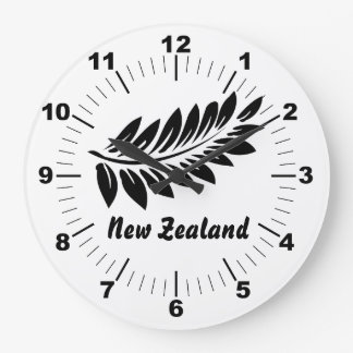 Fern leaf large clock