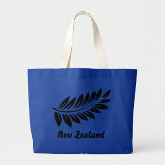 Fern leaf large tote bag